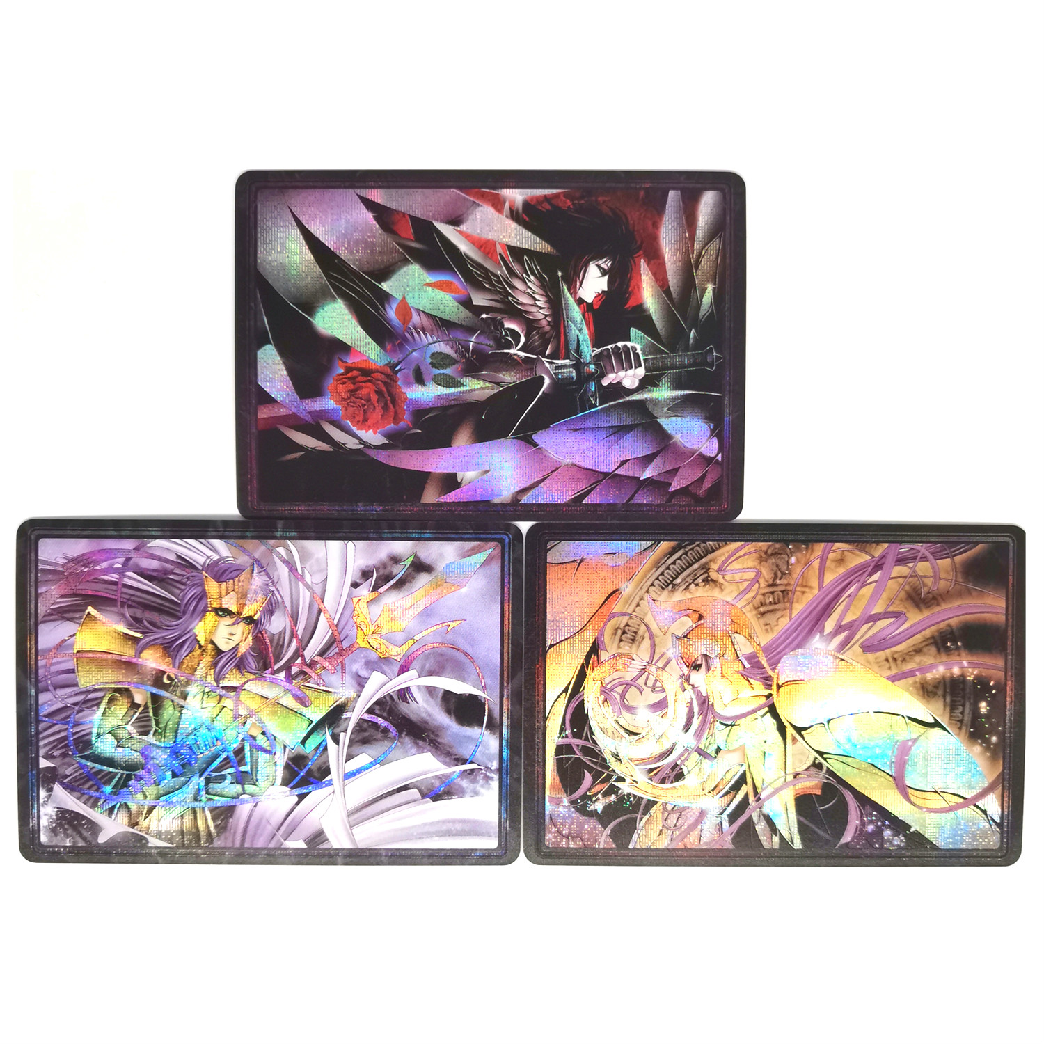 3pcs/set Saint Seiya Athena Poseidon Hades Toys Hobbies Hobby Collectibles Game Collection Anime Cards