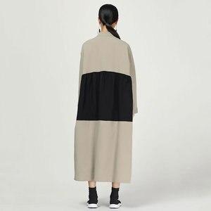 Image 2 - XITAO קפלים להיט צבע Midi שמלת נשים מקורי עצמאי עיצוב יחיד שד אלגנטי טלאי אלת מאוורר שמלת WQR1642
