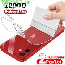 Protecteur D'écran de Couverture complète Hydrogel Film Pour iPhone 11 12 Pro mini XR X XS Max 7 8 plus 6 6s SE 2020 Protection arrière Film Souple
