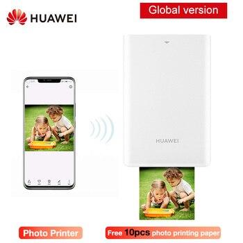 Original HUAWEI AR impresora portátil de bolsillo para fotos Mini portátil DIY impresoras de fotos para teléfonos inteligentes Bluetooth 4,1 300 impresora PPP