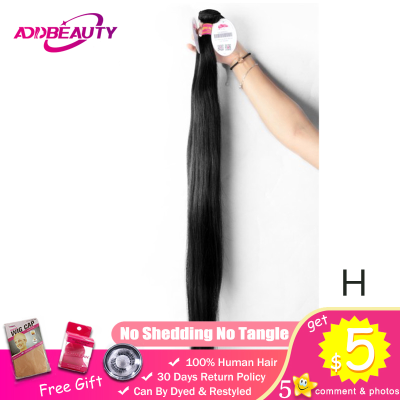 30 44 Inch Unprocessed Virgin Human Hair Extension High Ratio Double Drawn Brazilian Weave Bundles Straight Longer Length