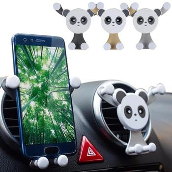 Universal Cute Panda Car Air Vent Gravity Mobile Phone Holder Bracket Stand image