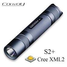 Convoy S2 Plus mit Cree XML2 Led U2 T6 T5 T4 Taschenlampe 18650 Taschenlampe Grau Flash Licht Linterna Tragbare Camping wandern Lampe