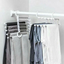 Hangers Shelves Pant-Rack Wardrobe Multi-Functional Stainless-Steel Fashion 5-In-1 Newest