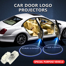 2pcs/lot For Nissan Welcome Light Car Door Logo Projector Shadow Lamp