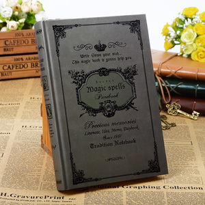 Image 3 - 160sheets Vintage Magic Spell Composition Book Handcover Notebook Travel Journal Travelers Notebook Sketchbook Kraft Paper Gift