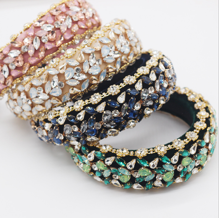 Acessórios para o Cabelo Barroco Diamante Completo Moda Exagerada Luxo Esponja Bandana Senhoras Baile Presente