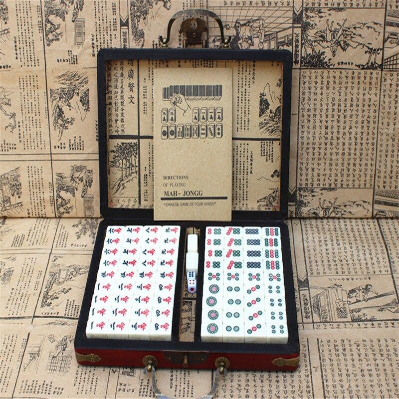 2019 maison Antique Mahjong boîte cadeau de haute qualité Mahjong voyage divertissement loisirs essentiels