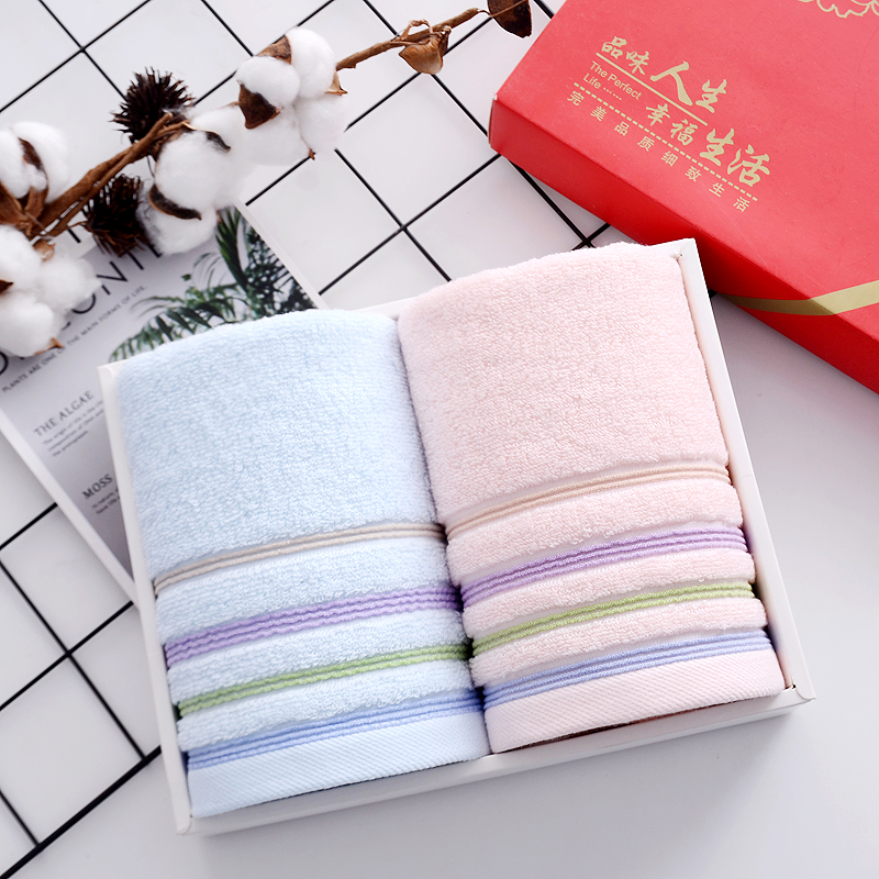 Cotton Towel Face 2 Strips Hair Towel Set of Adult Towels Toallas De Mano Gift Box Soft Absorbent Wedding Gif Face Towel FF60T29