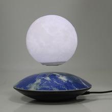 Необычный подарок украшение для офисного стола магнитная левитация 3 дюймов Луна Глобус НЛО база плавающий ночной Светильник