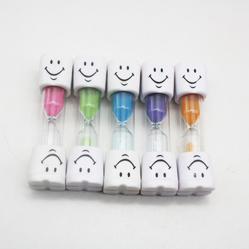 10 pcs Dental gift Children tooth brush Timer 3 Minutes Smile Sandglass Tooth Brushing Hourglass Dental Clinic Kids products tooth avulsion in children parental awareness