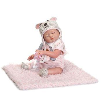 55cm Realistic Doll Soft Full Silicone Toddler Babies Sleeping Girl Lifelike