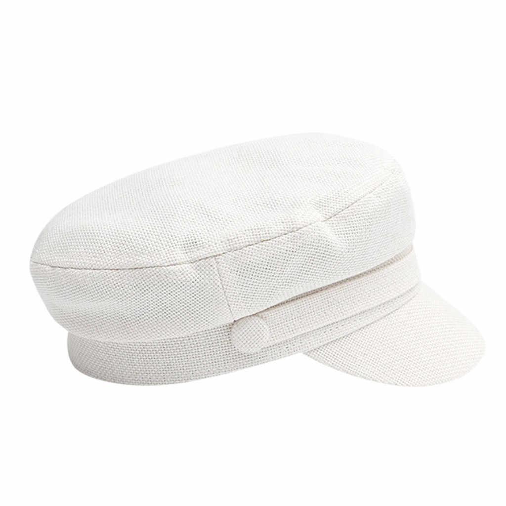 قبعة الشتاء الصوف القبعات للنساء الكورية نمط الصلبة الأبيض الرسام الفنان القبعات موزع الصحف القبعات قبعات الشارع أنيقة