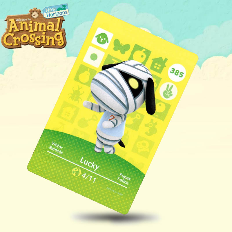 385 Lucky Animal Crossing Card Amiibo Cards Work For Switch NS 3DS Games