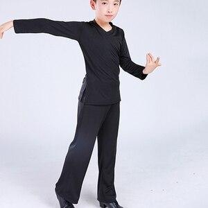 Image 4 - Mới La Tinh Phòng Khiêu Vũ Vũ Trang Phục Áo Quần Bé Trai Hiện Đại Bóng Tango Rumba Samba Dancewear Tiếng La Tinh Nhảy Múa Thi Đấu Quần Áo