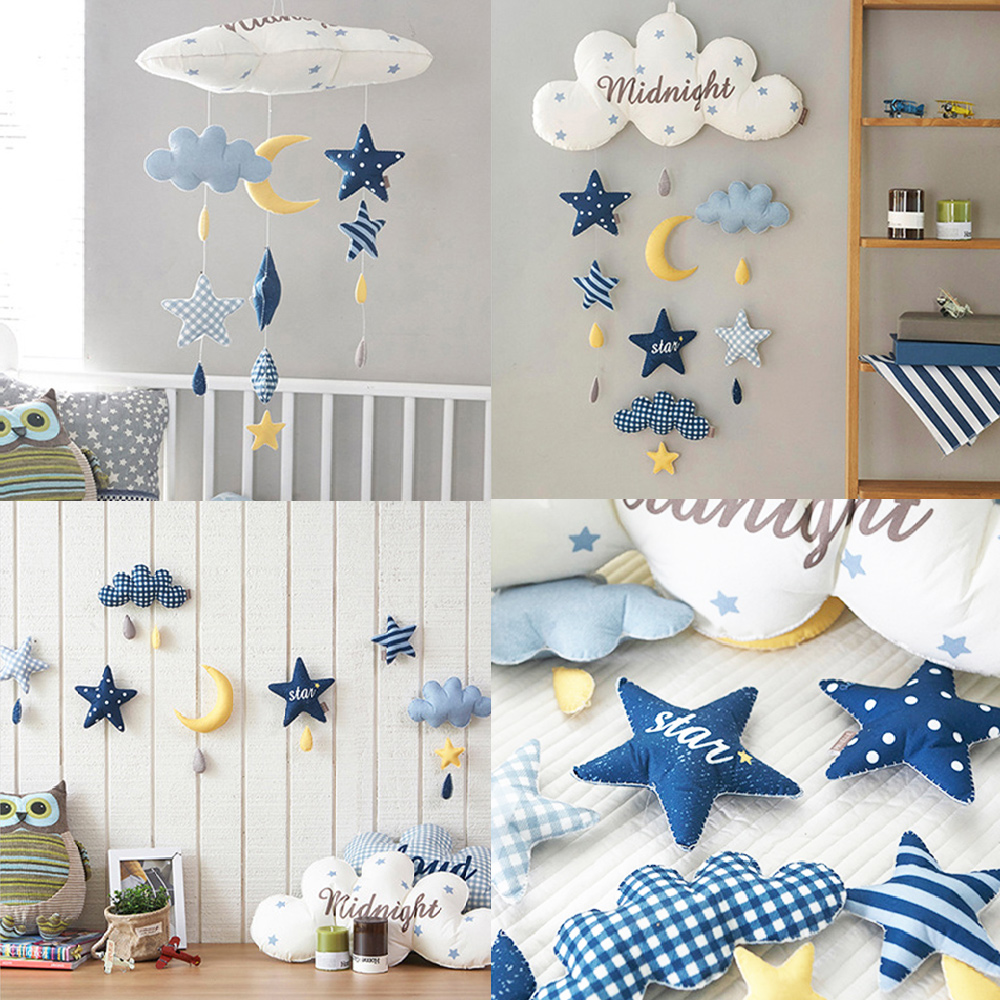 Kids Room Decoration Clouds Astronaut DIY Handmade Wall Hanger Baby Girl Gift Bedroom Nursery Children Room Decor Family Games