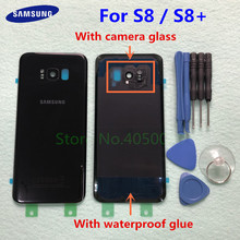 SAMSUNG Back Battery Cover For Samsung Galaxy S8 G950 SM G950F S8 Plus S8+ G955 SM G955F Back Rear Glass Case + Tools