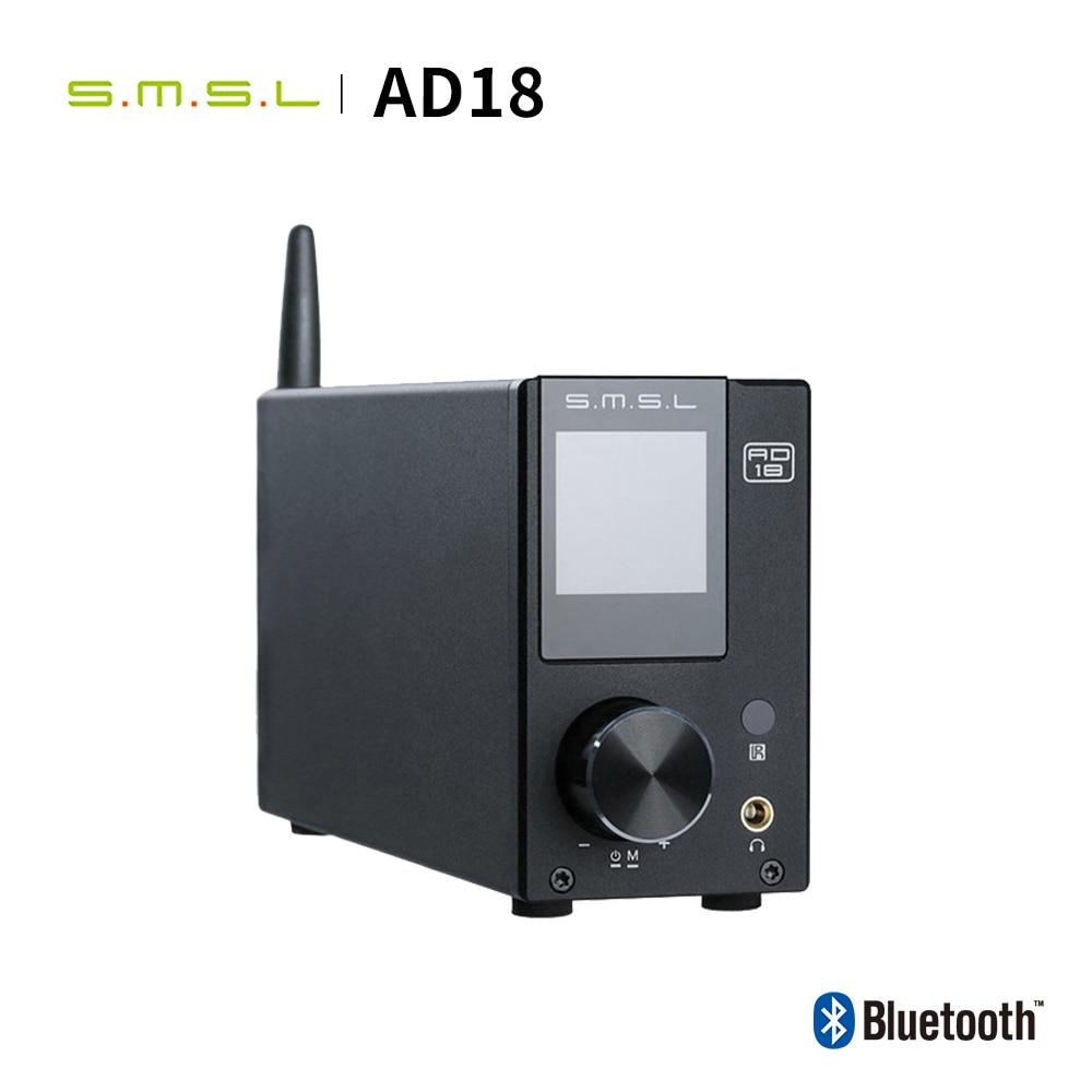 SMSL AD18 HIFI аудио усилитель стерео Bluetooth Apt X USB DAC Amp Player DSP Full Digital Power amplificador 2,1 для динамика