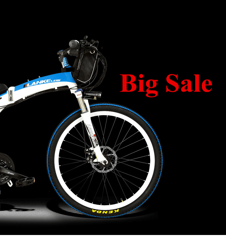 Lankeleisi 189.47 electric bicycle, folding bicycle, 26 inches, 36/48 V, 240 W, disk brake, fast folding, mountain 2
