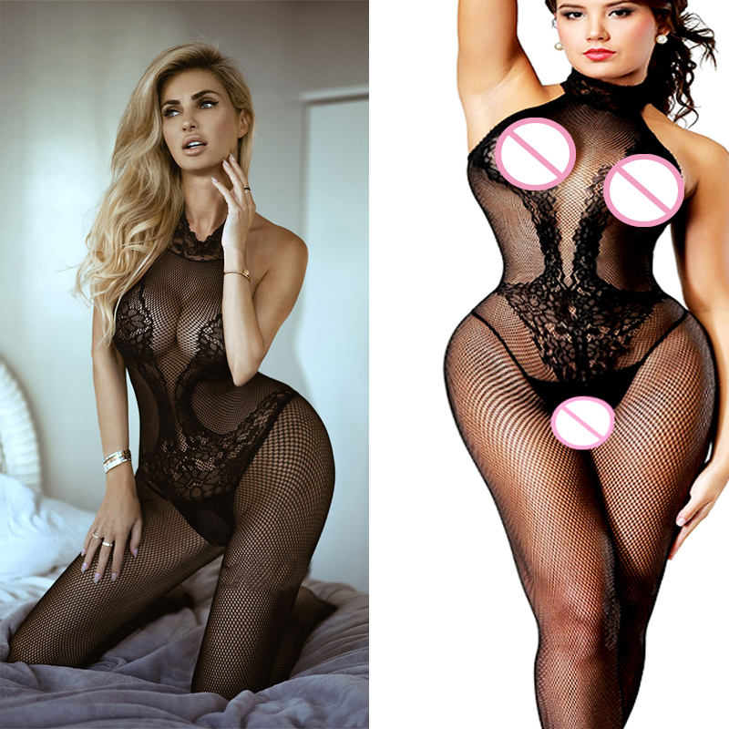 Sexy Bodysuit Transparent Erotic Catsuit Bodystocking Plus Size Body Costumes Teddy Lingerie Fetish Underwear Fishnet Bodysuit