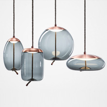 Modern New Led Glass Hanging Lamp Living Room Restaurant Bedroom Office Kitchen Fixtures Decorate Pendant Lights Light Luminaire