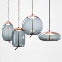 Modern New Led Glass Hanging Lamp Living Room Restaurant Bedroom Office Kitchen Fixtures Decorate Pendant Lights Light Luminaire
