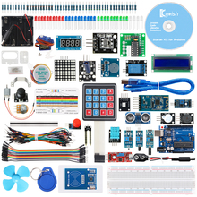 Keywish RFID Super Starter Kit For Arduino R3 With 34 Lessons,Full Module, Solder-free, Support APP control and Scratch Mblock