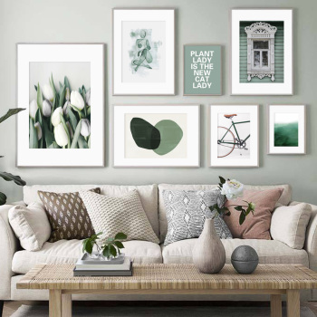 Lily Abstract Geometric Green Nature Wall Art Canvas Painting Nordic Posters And Prints Art Wall Pictures For Living Room Decor green leaves wall art canvas painting green style plant nordic posters and prints wall art poster pictures for living room 5 19