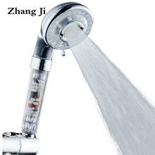 ZhangJi 3 Functions Water Saving Spa Shower Head Handheld ABS High Pressure Filteration Showerhead Bathroom Spray Nozzle