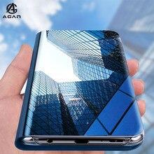 Espelho Kickstand Caso Para Vivo V20 V17 V15 V11 Pro iQOO Neo U1x Y20 Y12 Y17 U3x Y19 Y91 Y95 Y81 Y71 Y85 Escudo Do Telefone de Couro Da Aleta