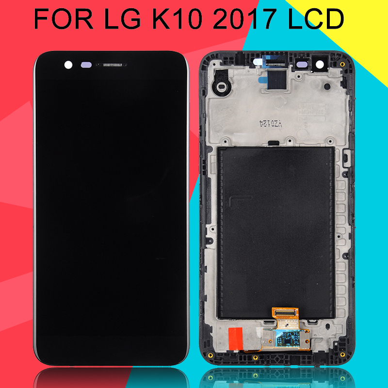 Dinamico K10 2017 Lcd Touch <font><b>Screen</b></font> Digitizer Assembly <font><b>Replacement</b></font> For <font><b>LG</b></font> M250 Lcd M250N <font><b>K20</b></font> <font><b>K20</b></font> <font><b>Plus</b></font> VS501 Display With Frame image
