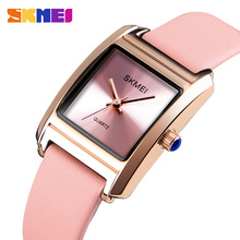 SKMEI Womens Watches Luxury Leather Quartz Watch Women Fashion Casual Ladies Wrist Female 3bar Waterproof 1432