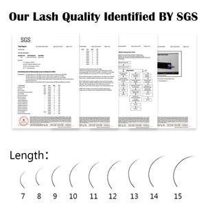 Image 5 - NAGARAKU Individual Eyelash 5 cases set 16rows 0.05mm Synthetic Mink Eyelash Extension Fake Eyelash Extension Soft Natural