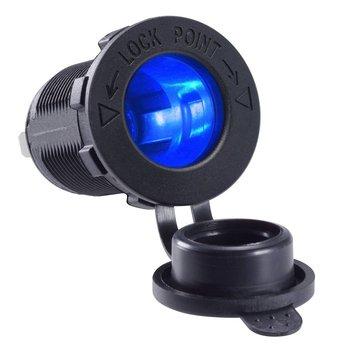 DIY cigarrillo encendedor hembra impermeable LED indicador de alimentación de 12V de salida para coche Marina barco motocicleta vehículo camión ATV
