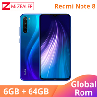 Global ROM Xiaomi Redmi Note 8 6GB RAM 64GB ROM Octa Core Smartphone Snapdragon 665 48MP 6.3 Screen Fast Charger Cellphone