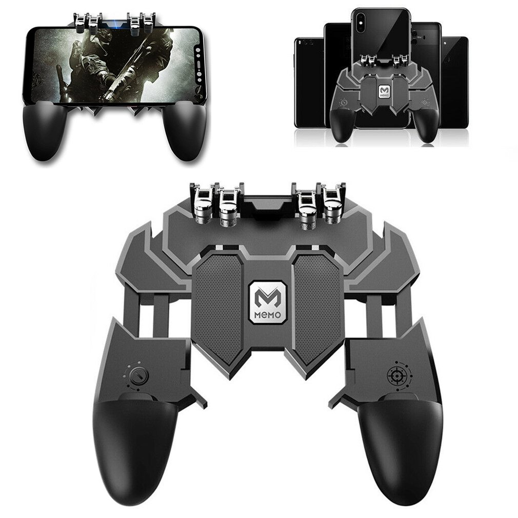 AK66 Mobile Game Controller Gaming Trigger <font><b>Joystick</b></font> Gamepad Console for <font><b>PUBG</b></font> L1R1 Phone Game Tools image