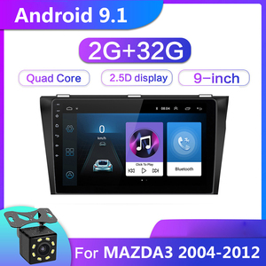 9 inch Android 9.1 Car Multimedia Video Player 2G+32G For Mazda 3 Mazda3 2004-2012 2din GPS Navigation Radio Stereo WIFI No DVD(China)