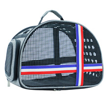 Dog Bag Breathable Mesh Handbag Shoulder Portable Cat Carrying Easy To Carry Out Porous Pet Carrier