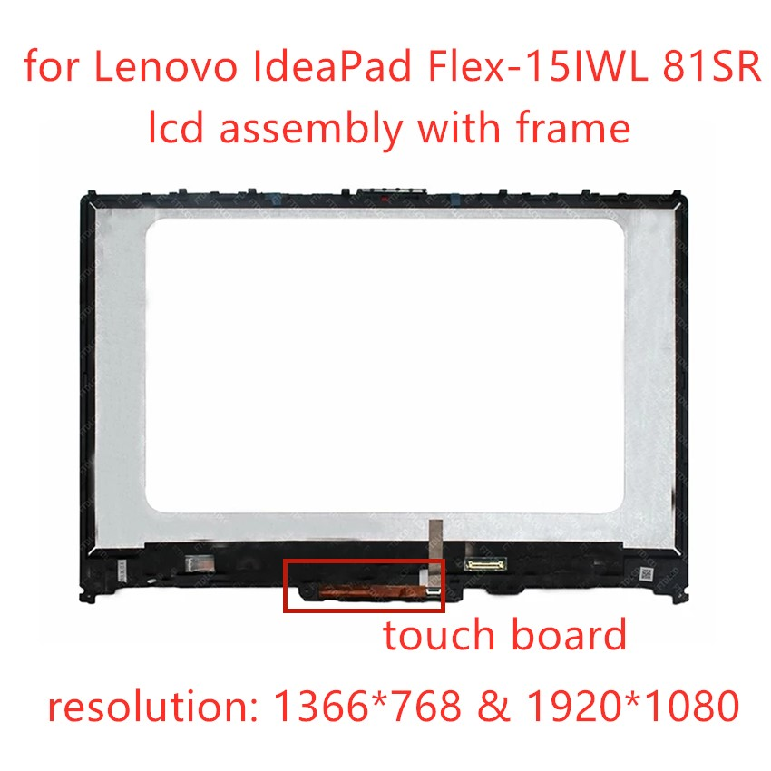 FHD экран дисплей Панель ЖК-дисплей с сенсорным экраном дигитайзер сенсорного сборного стекла + ободок 5D10S39565 5D10S39566 для Lenovo IdeaPad Flex-15IWL 81SR