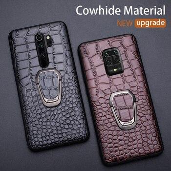 Leather Phone Case For Xiaomi Redmi Note 9S 9 8 7 K30 10X Mi 10 Ultra 9 se 9T A3 Lite Max 3 Poco F1 X2 X3 F2 Pro Crocodile Cover
