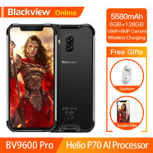 Blackview a BV9600 Pro Helio P70 impermeable Smartphone robusto 6GB + 128GB Android 9,0 teléfono móvil 19:9 AMOLED al aire libre 4G teléfono móvil(China)