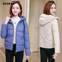 NEEDBO Women Down Jacket Hooded Down Coat White for Women Slim Down Jackets ultra Light Down Coat Winter Oversize Parka Doudoune cheap Solid WC28707 REGULAR 650g Casual zipper White duck down Full Polyester Thick (Winter) Broadcloth None 100g Down Jacket Hood Winter Jacket Coat Down