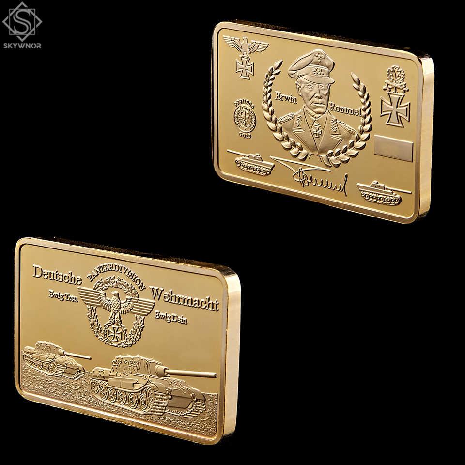 1891-1944 der Zweite Weltkrieg Erwin Rommel Deutsche Wehrmacht Gold Bullion Bar