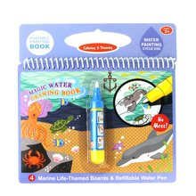 Coloring Magic Water Painting Book Kid Doodle Write Board Reusable Drawing Educational Toys