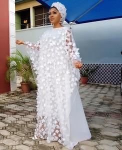 Image 4 - 2019 الخريف سوبر حجم جديد المرأة الأفريقية Dashiki موضة فضفاض التطريز فستان طويل فستان أفريقي للنساء الملابس الأفريقية