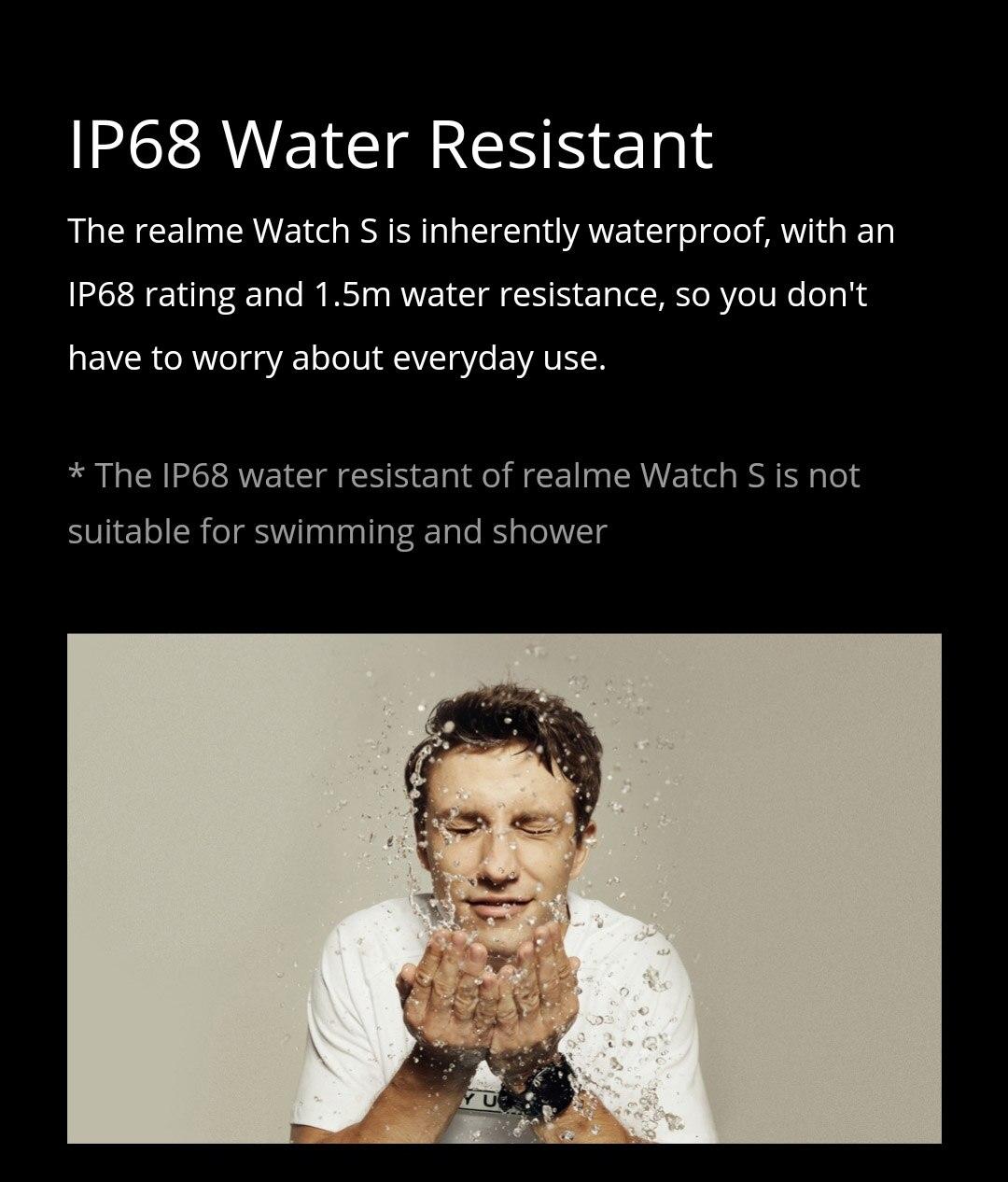 Realme relógio s versão global ip68 esportes relógio inteligente
