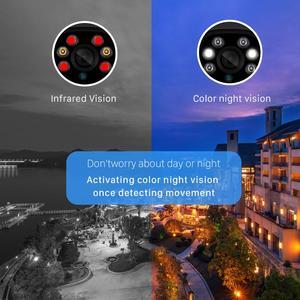 Image 3 - BESDER H.265 1080P WIFI IP Ai Phát Hiện TF Khe Cắm Ngoài Trời 2MP Camera Không Dây Âm Thanh Màu Tầm Nhìn Ban Đêm An Ninh camera quan sát
