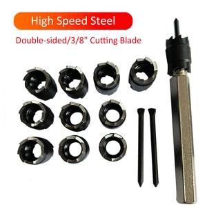 Image 5 - Loch Opener Set 13 stücke High Speed Stahl 3/8 zoll Dreh Spot Schweiß Cutter Remover Bohrer Werkzeug
