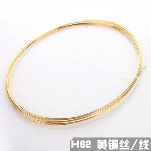 1pc drut mosiężny H62 drut miedziany drut mosiężny pręt mosiężny 1mm-5mm drut okrągły drut miedziany cienki okrągły pręt stały