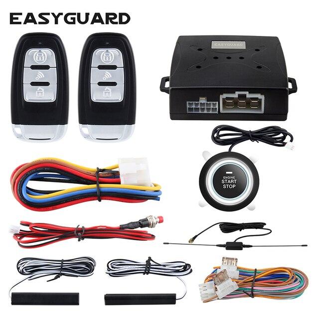 EASYGUARD Qualität smart key PKE auto alarm system push button start stop remote motor starten proximity entsperren lock keyless entry